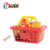 picnic happy kitchen play food plastic basket pot kids tea set toy with dessert
