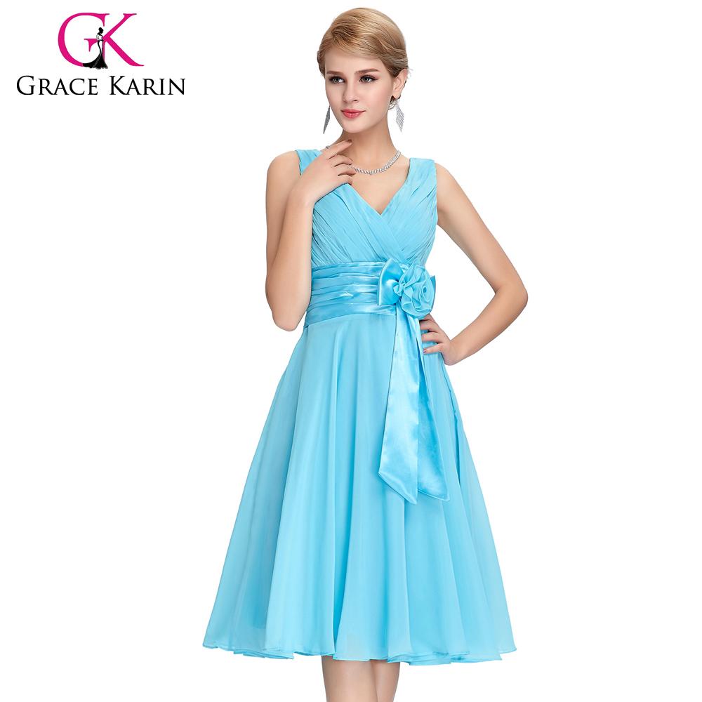 grace karin  Grace Karin New Fashion Deep V-neck Short Chiffon Dress Bridesmaid ...