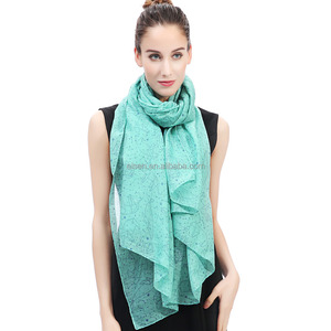 Constellation Stars Galaxy Print Women Scarf Shawl Wrap Soft Lightweight