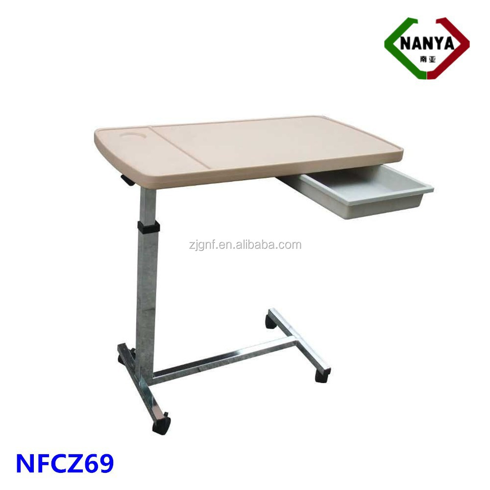 Hospital Bedside Tables,movable overbed table
