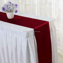 wholesale modern wedding decoration satin table runners for rectangle tables