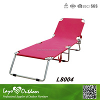 LY Professional Furniture Manufactory commercial color long folding chair pink chaise lounge outdoor furniture