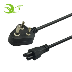 Factory Indian standard power cord, india extension cord 3 pin male and female AC power cord plug