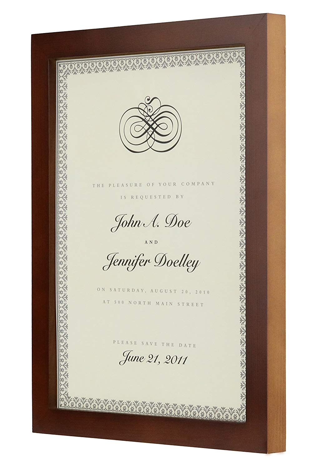longlongtime 8.5x11 inch Brown Document Frame - Made to Display Certificates, Classic Style, Certificate Frames, Diploma Frames,Document Frames.(Brown)