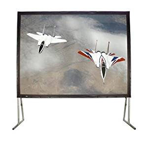 "Matte White Fixed Frame Projection Screen Viewing Area: 200"" diagonal"