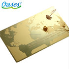 Luxury mirror metal business cards printing from shenzhen china