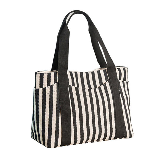 Promote Cheap Stripes Printing HandbagsWomen Beach Canvas BagLarge Shoulder Bag <strong>Totes</strong>