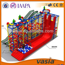 indoor big slide designs for children and for plastic playing grounds for shopping mall