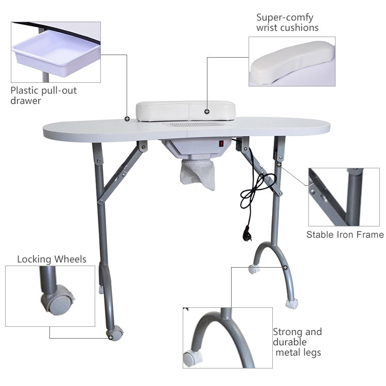 Hot Sale Nail Salon Station Manicure Table With Exhaust Fan - Buy ...