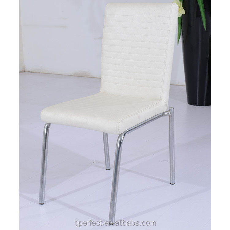 langfang kitchen modern comfortable white pu genuin leather dining chairs