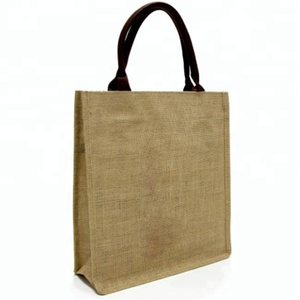 Promotional Hessian Burlap Tote Manufacture Wholesale Shoulder Strap Plain Beach Bags Logo Print Jute Shopping Bag