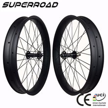 Snow Bicycle 26er 80mm Wide 25mm Deep Clincher Tubeless 26'' Fatbike Wheelset Carbon Fat Bike Wheels