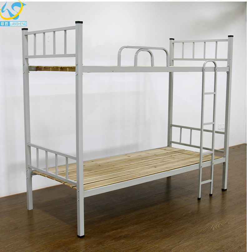 Suchool Furniture Dormitory Design Kids Metal Frame Bunk Bed With Wooden