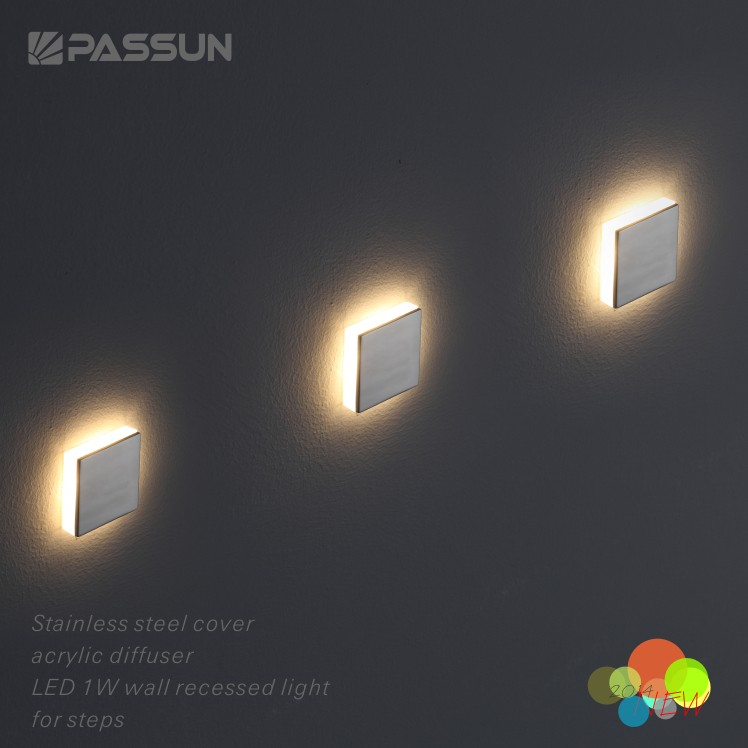 Great 1w Modern Recessed Led Stair Light For Step Decoration