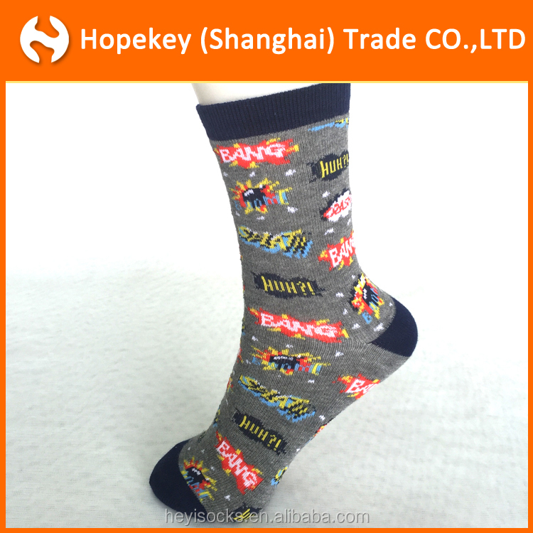 2016 New Cute Kids short Socks Fashion Superman jacquard pattern Children Cartoon Socks