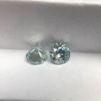 Blue Color Round Brilliant Cut 1.5 carat 7.5mm Loose Synthetic Moissanite Diamond.