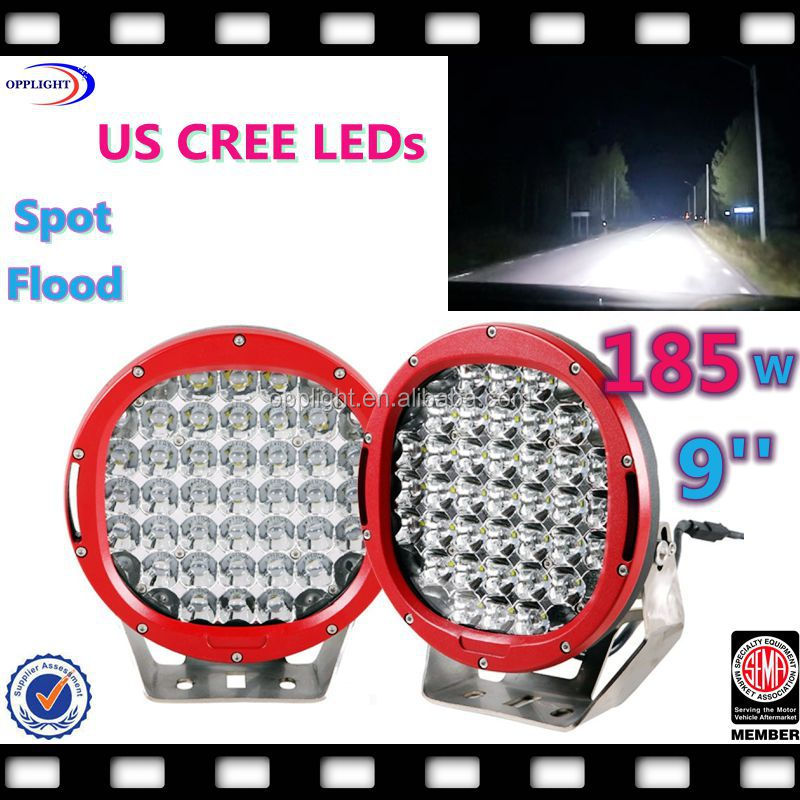 9inch 185w led ffroad light 185w waterproof led driver 96w/185w led driving light 9inch led work light 96w