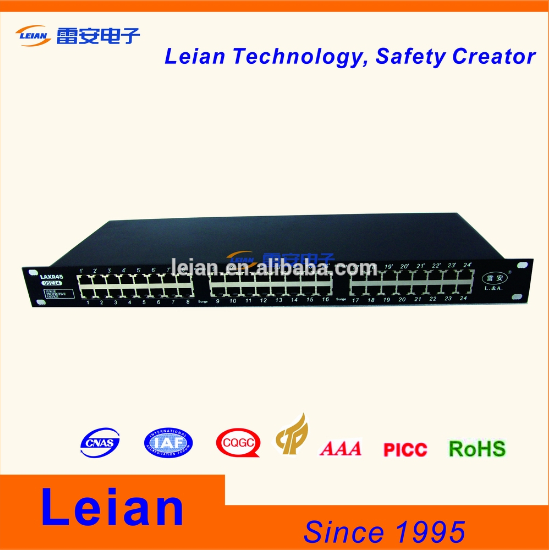 24 shielding RJ45 connectors ethernet lightning protection