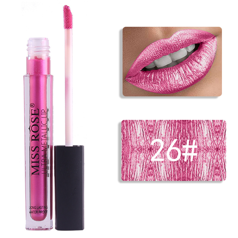 Wholesale Shiny Shimmer Metallic Long Lasting Liquid Lipgloss Vendor Custom Private Label Lip Gloss