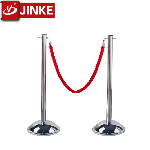 Security Road Crowd Control Barrier Stand/1.5m Optional Color Rope Barriers for Running Road