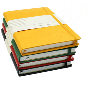 Colorful OEM moleskin pu leather notebooks with logo debossed