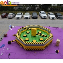 Crazy commercial meltdown inflatable เกมกีฬาสำหรับขาย