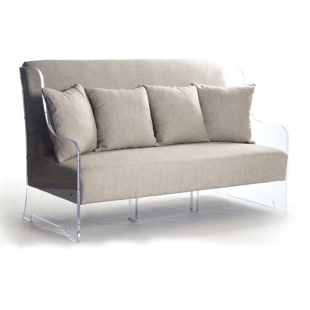 luxury living room furniture acrylic base sofa