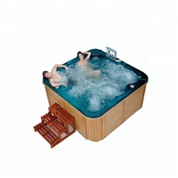 SMBR-H01tv Waterproof TV portable bathtub luxury bath 5 person hot tubs for spa