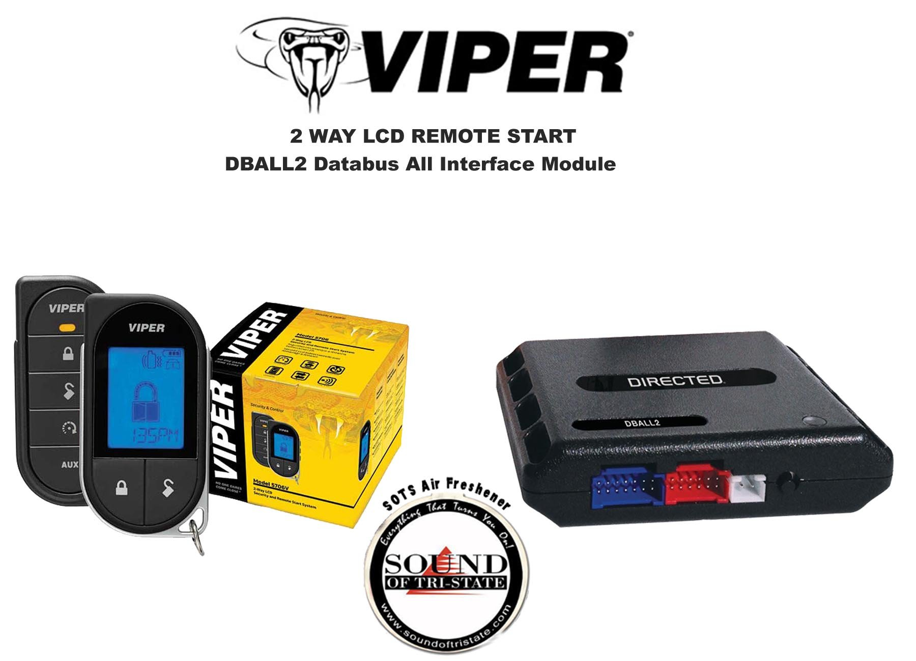 Get Quotations · Viper 5706V 2 Way LCD Remote Starter Car Alarm with DBALL2  Bypass Interface and a FREE