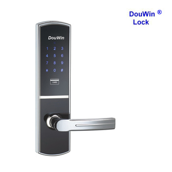 Safety Multipoint Smart Card Reader Door Entry Lock For Apartment