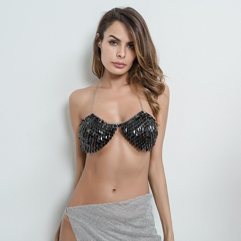Sexy halter top sequin