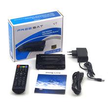 2015 latest satellite tv decoder Freesat V7 FTA DVB-S2 support full powervu, cccam, youtube, youporn