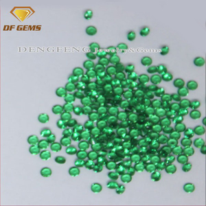 Beads factory direct sell1mm 10mm cubic zirconia round machine cut cz micro pave bead