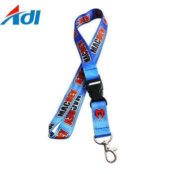 Custom your own logo polyester printed logo sublimation lanyards