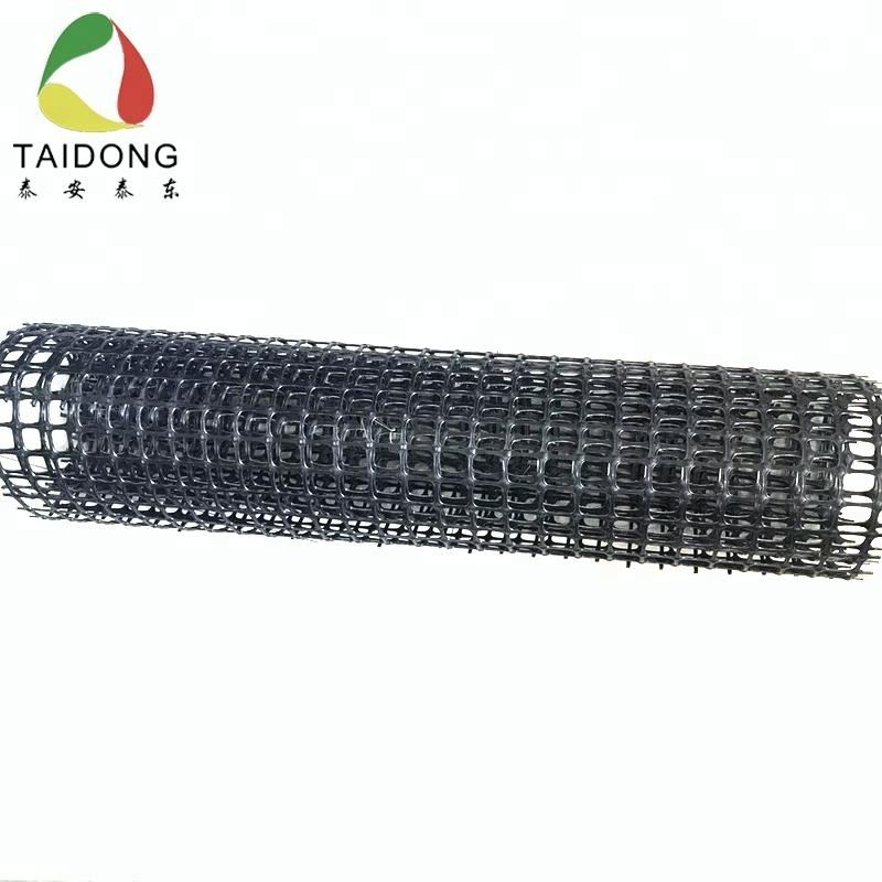 warp knitted polyester Geogrid/Biaxial Polyester Soil Reinforcement Geogrid for earthwork product