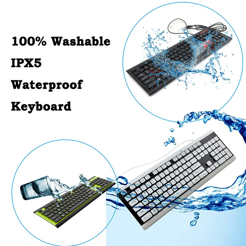 Arabic Stand Computer Wired Waterproof Keyboard