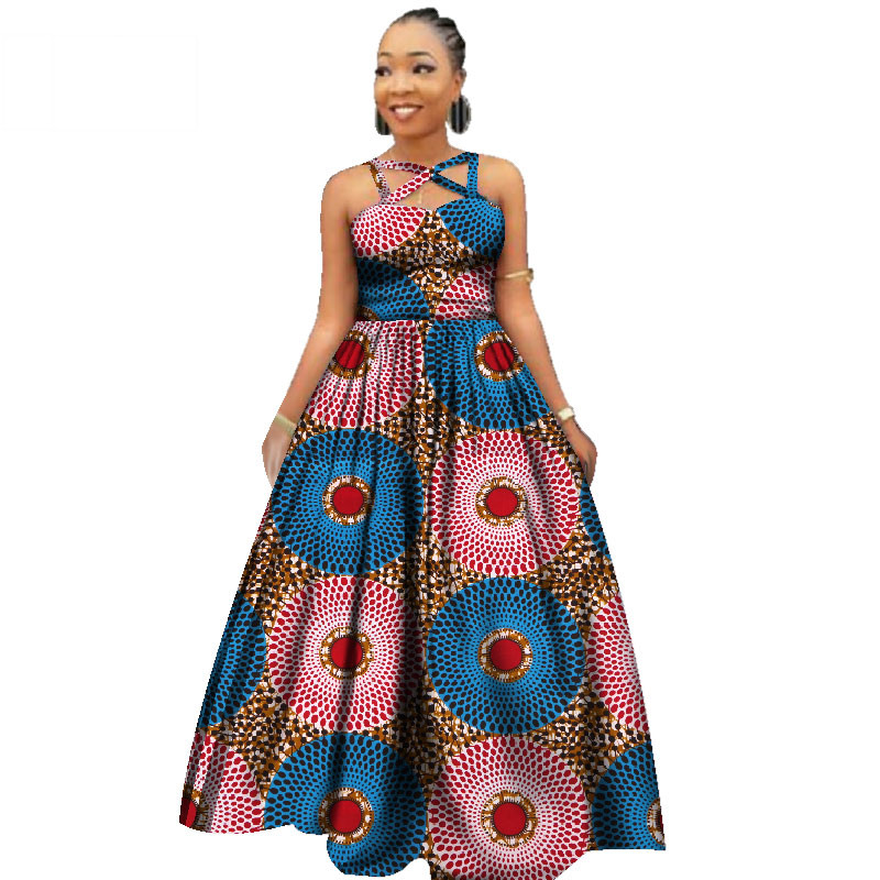 Afrikaanse Nieuwe Ontwerp Sexy Party Avondjurken Elegante Vrouwen Afrikaanse Dashiki Print Kleding voor Vrouwen Afrika Lange Rokken WY2390