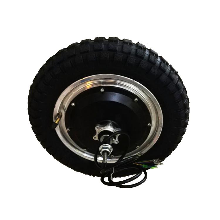 Brushless BLDC 12 Inch 24V 36V 48V 250W 500W DC Electric Wheel Scooter Hub Motor, Black