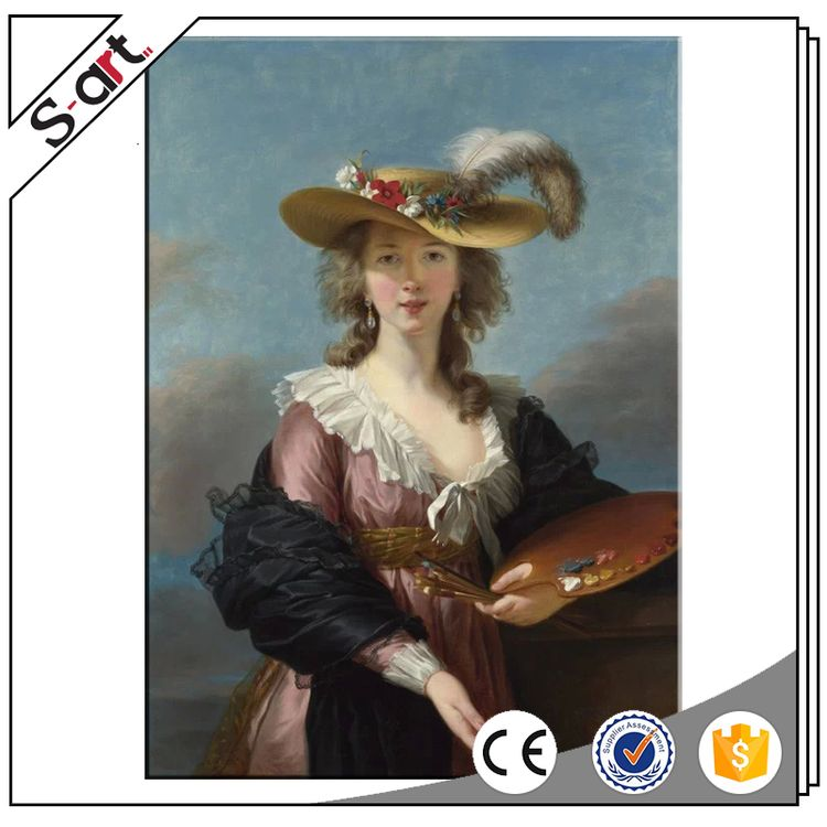 China factory price new design art oil painting women portraits
