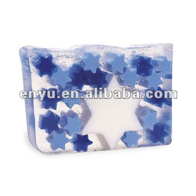 Transparent soap with Blue Stars,Bath soap ,Very Beautiful,soap Artware