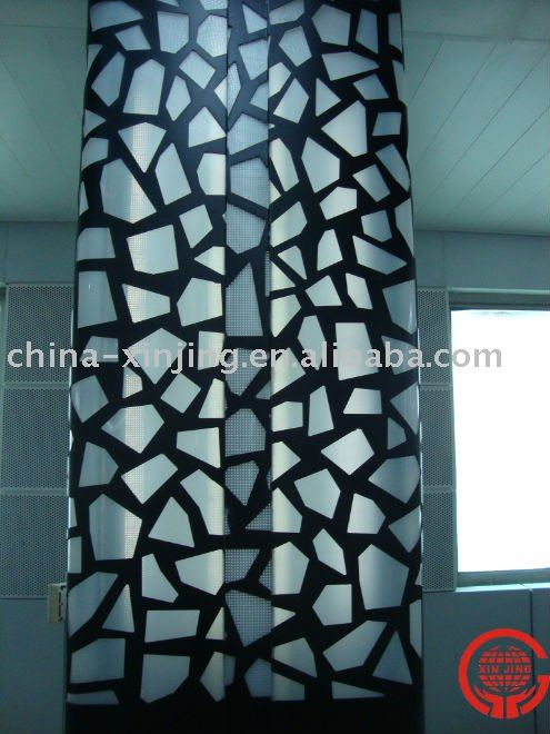 perforated pillar decoractive panel/wall covering design