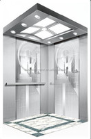 advance control system passenger lift elevators with capacity 1150kg 15 person for office building