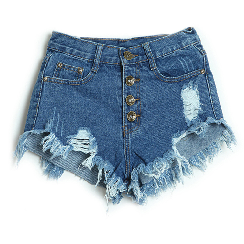 ae979070a9 Get Quotations · Summer Style Shorts Women Vintage High Waist Shorts Jeans  Feminino Ripped Hole Short Jeans Female Distress