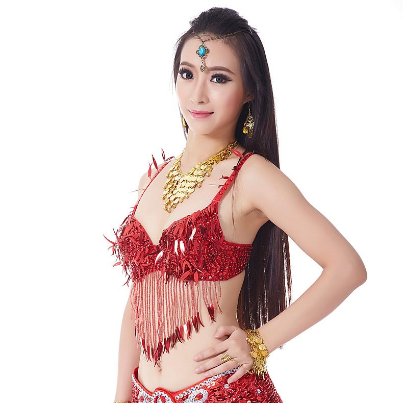 6395551579 DJGRSTER 2017 New Lady Belly dance costumes senior sexy colors stones sequins  belly dance bra for women belly dancing bra tops