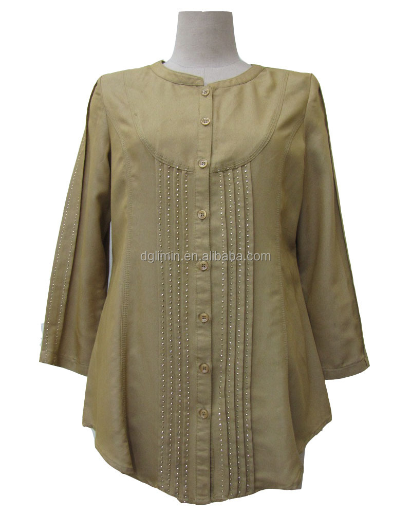 Women Wear Tube Top Islamic Kurta Lady Blouse Women Clothing Moroccan Caftan