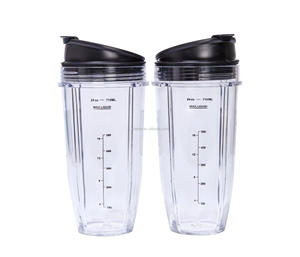 Two 24 oz. Nutri Cups with Two Sip & Seal Lids, Blender cups