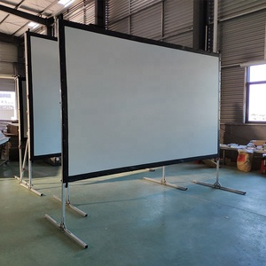300 inch fast fold projector screen large size outdoor portable projection screen with flight case