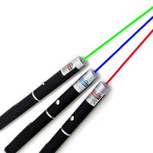 2015 Powerful 5MW Red Green Blue Laser Pointer Pen Beam Light Lanterna Style Military Grade Caneta Laser Verde For Presentation