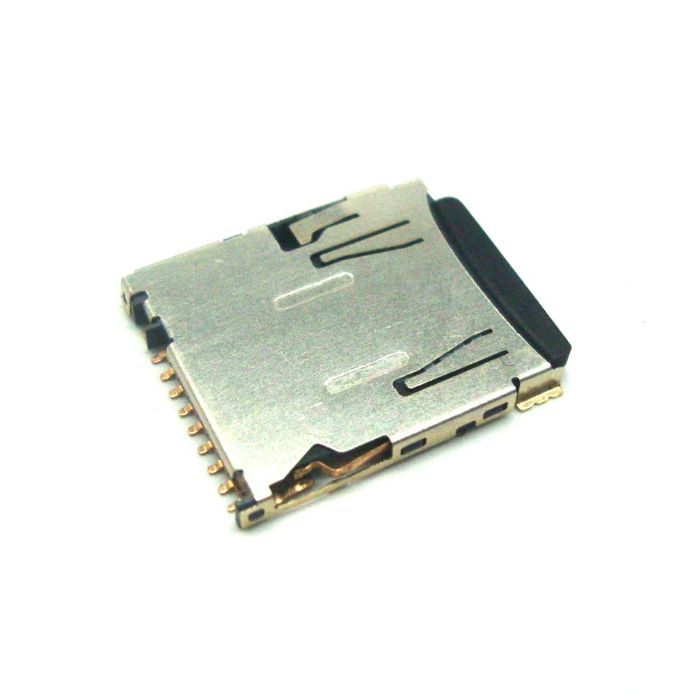 Micro SD card push pull type 8+1Pin socket carrier H=1.5 mm connector