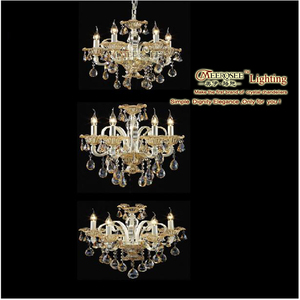 MEEROSEE 3 Independent Layers Crystal Pendant Light MD1021-L5+5+5